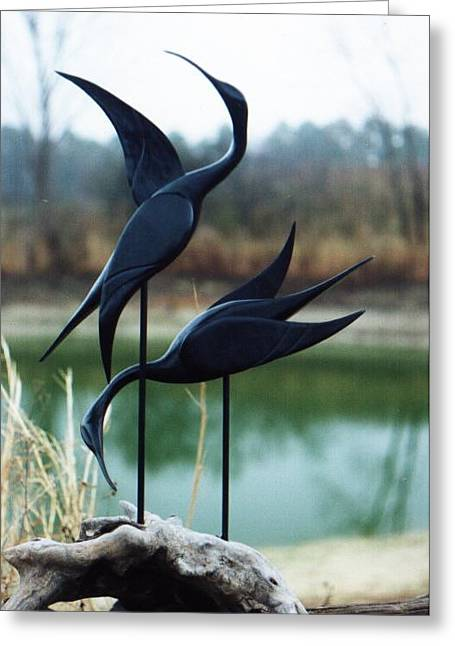 Nature Abstract Sculptures Greeting Cards - Mating Dance Greeting Card by Matt Cormons