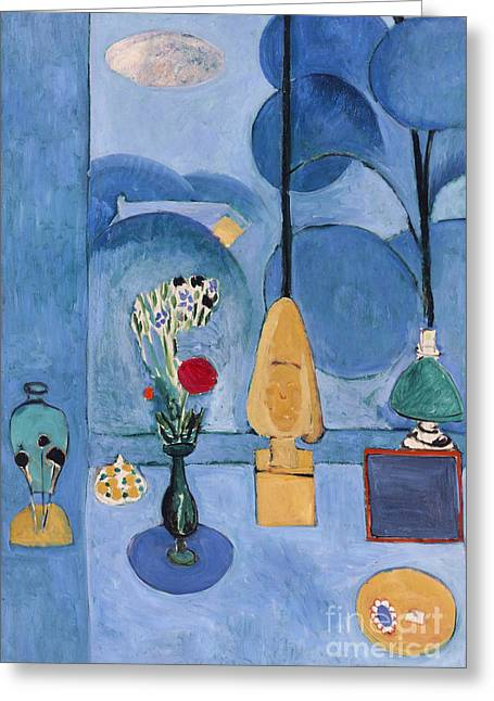 Matisse Greeting Cards - Matisse Blue Window 1913 Greeting Card by Granger