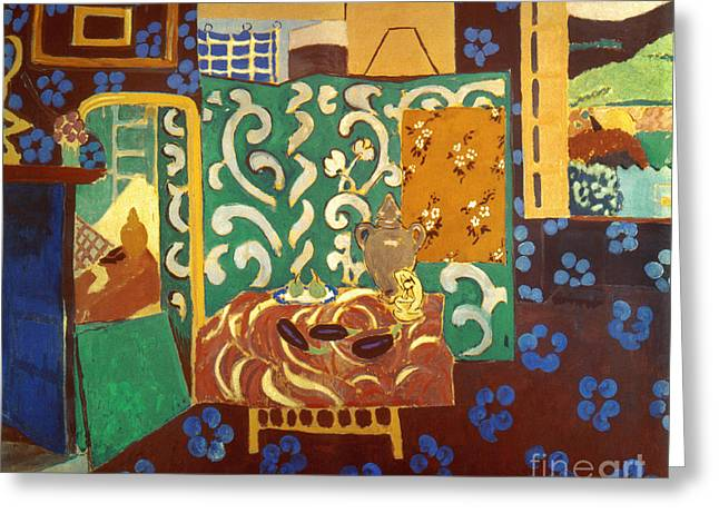 Interior Still Life Paintings Greeting Cards - Matisse Interior 1911 Greeting Card by Granger