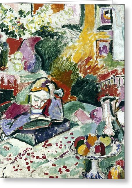 Matisse Greeting Cards - MATISSE La Lecture 1905 Greeting Card by Granger