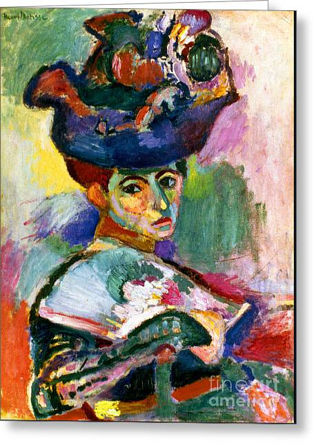 Matisse Greeting Cards - Matisse Woman With Hat Greeting Card by Granger