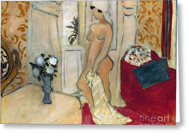 Matisse Greeting Cards - Matisse Woman Vase Greeting Card by Granger