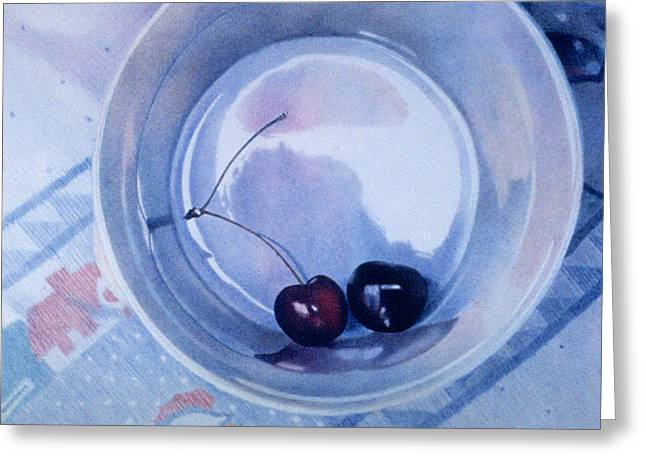 Cherry Drawings Greeting Cards - Matrimony Greeting Card by Bob Nolin