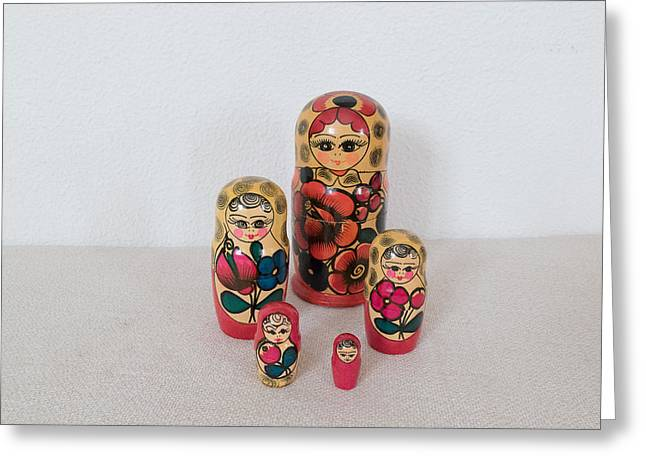 Dr. J Photographs Greeting Cards - Matrioshka Dolls. Greeting Card by Benny Blitzblau