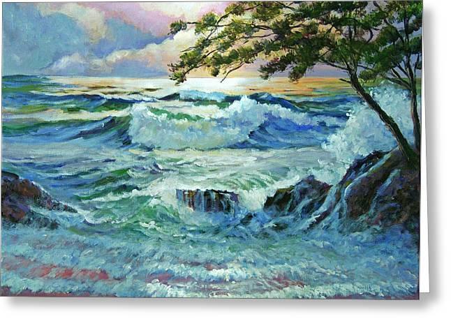 Matsushima Coast Greeting Card by David Lloyd Glover