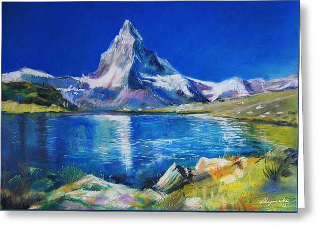 Beauty Pastels Greeting Cards - Matterhorn Greeting Card by Alina  Kuzmenko