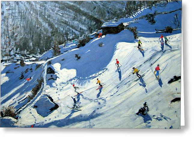 Natural Beauty Paintings Greeting Cards - Matterhorn Greeting Card by Andrew Macara