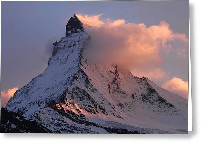 Matterhorn at dusk Greeting Card by Jetson Nguyen