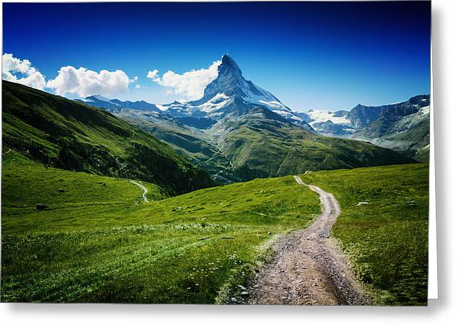 Wallpapers Greeting Cards - Matterhorn Ii Greeting Card by Juan Pablo Demiguel