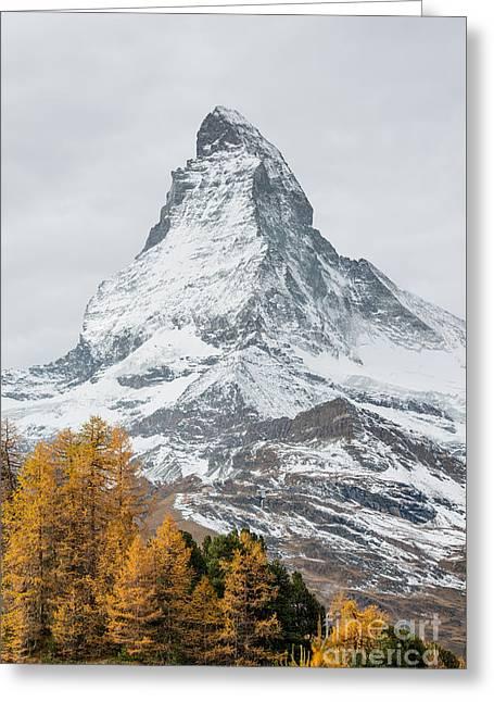 Swiss Photographs Greeting Cards - Matterhorn Greeting Card by Peter Wey