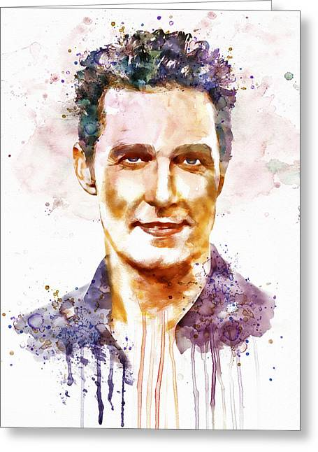 For Modern Decor Greeting Cards - Matthew McConaughey Greeting Card by Marian Voicu