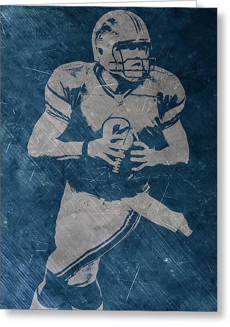 Matthew Stafford Detroit Lions Greeting Card by Joe Hamilton