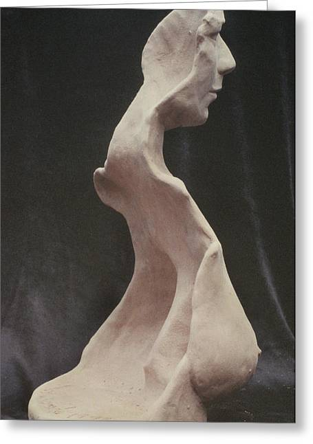 Realism Sculpture Sculptures Sculptures Greeting Cards - Maturity Greeting Card by Sarah Biondo