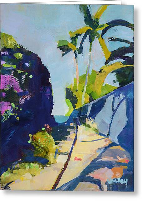 Maui Beach Path Greeting Card by Stacy Vosberg