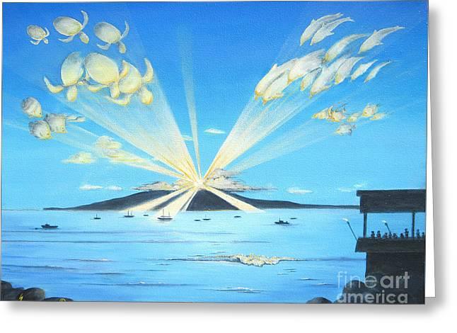 Lahaina Greeting Cards - Maui Magic Greeting Card by Jerome Stumphauzer