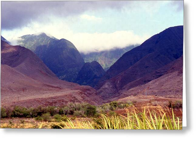 Maui Mounds 3 Greeting Card by Harvie Brown