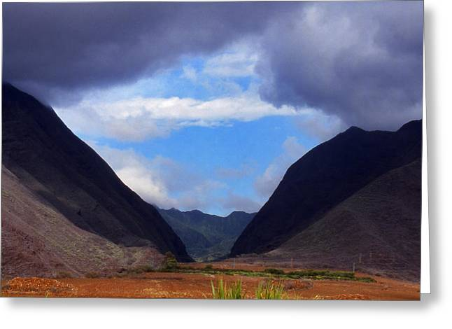 Maui Mounds Greeting Card by Harvie Brown