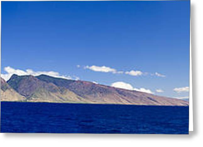 Dave Greeting Cards - Maui Panorama Greeting Card by Dave Fleetham - Printscapes