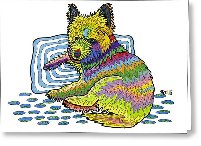 ; Maui Drawings Greeting Cards - Maui Greeting Card by Please Draw My Dog