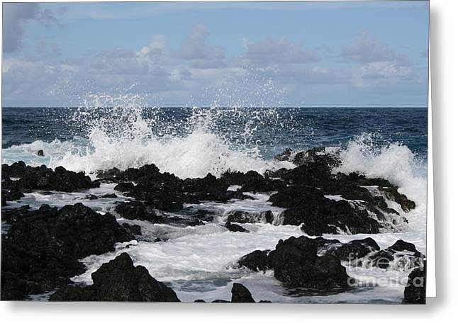Recently Sold -  - Tears Greeting Cards - Maui rocks Greeting Card by William Petri