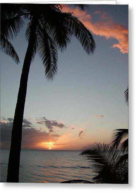 Maui Greeting Cards - Maui Sunset Greeting Card by Dustin K Ryan