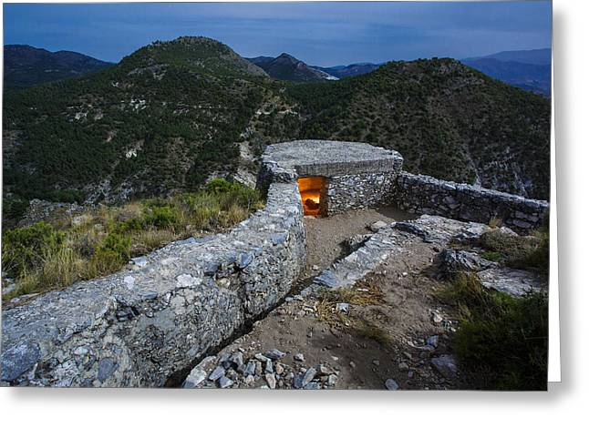 Civil Greeting Cards - Maullo trenches - Trincheras del Maullo Greeting Card by Juan Carlos Ballesteros