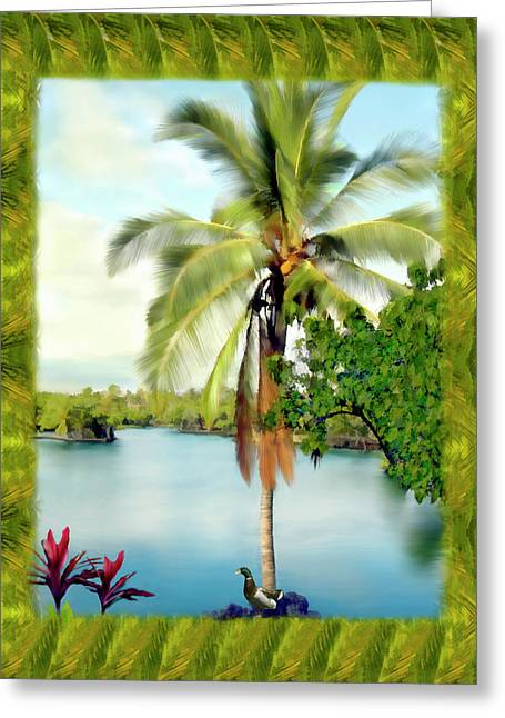 Paradise Greeting Cards - Mauna Lani Palm II Greeting Card by Kurt Van Wagner