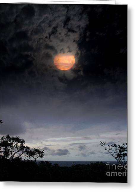 Mystical Moons Greeting Cards - Maunaleo Journey with Spirit Greeting Card by Sharon Mau