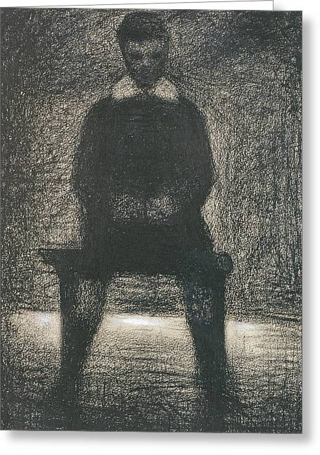 Seurat Greeting Cards - Maurice Appert Seated Greeting Card by Georges Pierre Seurat