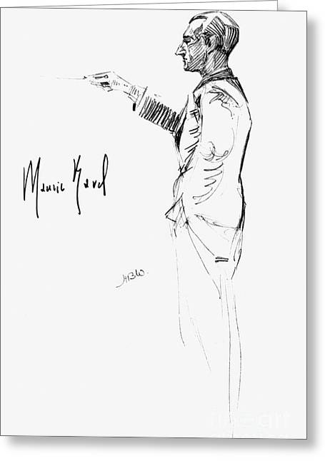 Autographed Greeting Cards - Maurice Joseph Ravel Greeting Card by Granger
