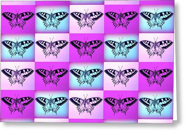 Violet Prints Greeting Cards - Mauve Fantasy Greeting Card by Cathy Jacobs