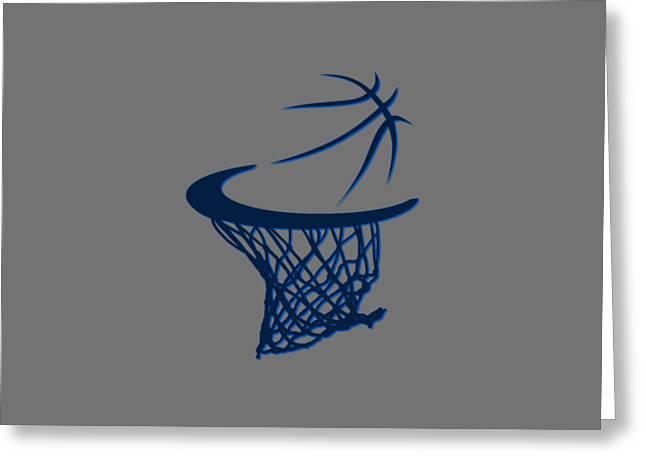 Basket Ball Greeting Cards - Mavericks Basketball Hoops Greeting Card by Joe Hamilton