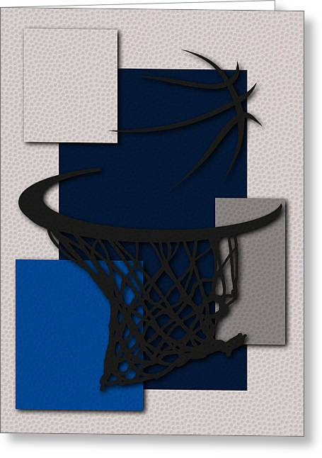 Basket Ball Greeting Cards - Mavericks Hoop Greeting Card by Joe Hamilton