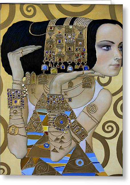 Valeriy Mavlo Paintings Greeting Cards - MAVLO - KLIMT a Greeting Card by Valeriy Mavlo