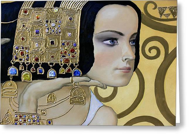 Valeriy Mavlo Paintings Greeting Cards - MAVLO - KLIMT b Greeting Card by Valeriy Mavlo