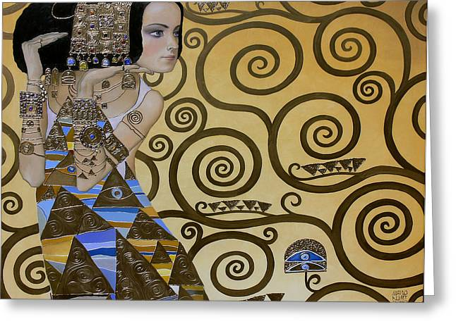 Valeriy Mavlo Paintings Greeting Cards - Mavlo - Klimt Greeting Card by Valeriy Mavlo