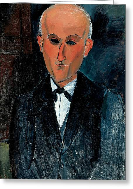 20th Greeting Cards - Max Jacob Greeting Card by Amedeo Modigliani