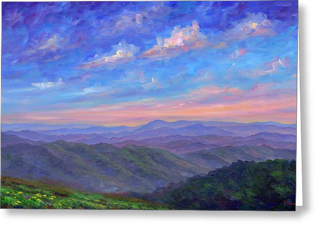 Patch Paintings Greeting Cards - Max Patch North Carolina Greeting Card by Jeff Pittman