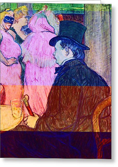 Prostitution Paintings Greeting Cards - Maxime Dethomas on the Opera Ball Greeting Card by Toulouse Lautrec
