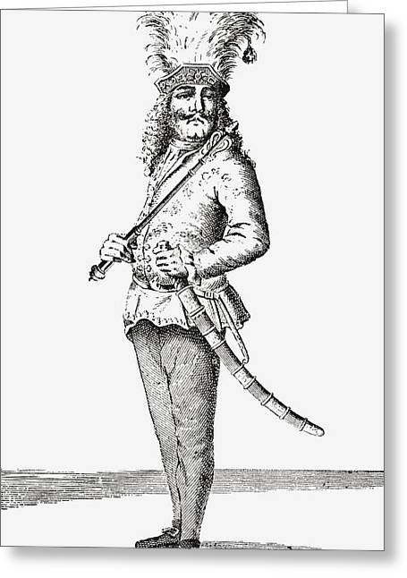 Height Drawings Greeting Cards - Maximillian Christopher Miller, 1674 - Greeting Card by Ken Welsh