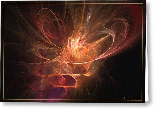 Recently Sold -  - Generative Abstract Greeting Cards - Maximum power of love Greeting Card by Sipo Liimatainen