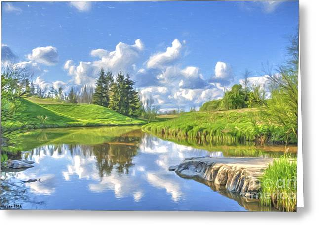 May Afternoon Greeting Card by Veikko Suikkanen