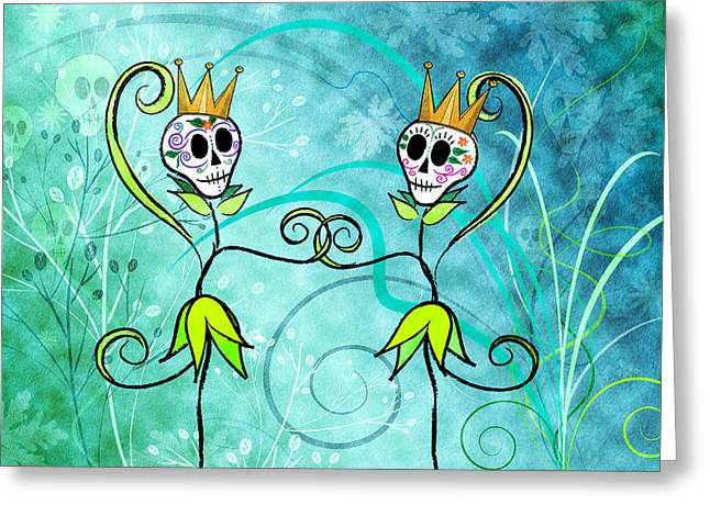 Princess Drawings Greeting Cards - May Flowers Greeting Card by Tammy Wetzel