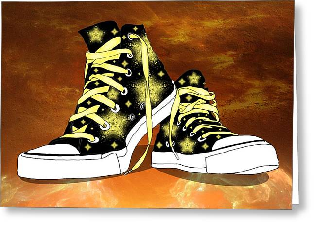 Conversing Digital Greeting Cards - May I Converse With You Greeting Card by Davandra Cribbie