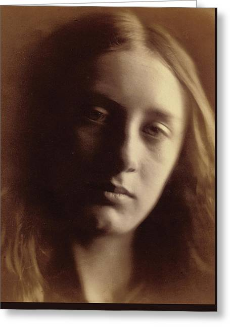 May Prinsep As St John Greeting Card by Julia Margaret Cameron