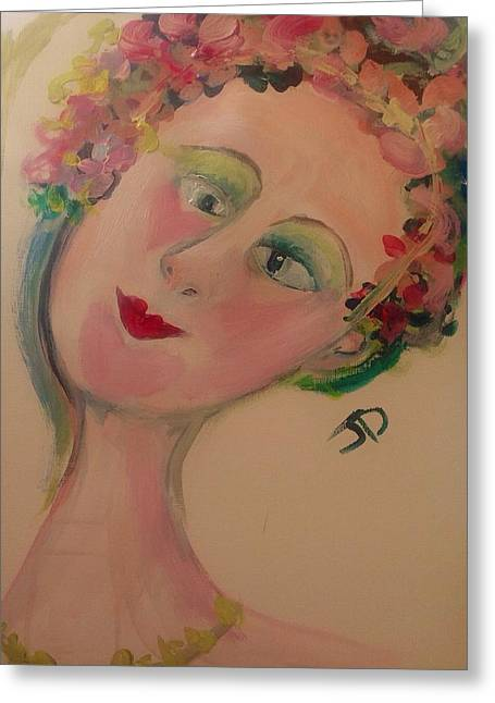 Ballet Dancers Greeting Cards - May Queen Greeting Card by Judith Desrosiers