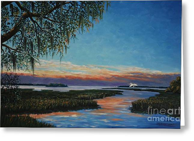 Stanton Allaben Greeting Cards - May River Sunset Greeting Card by Stanton Allaben