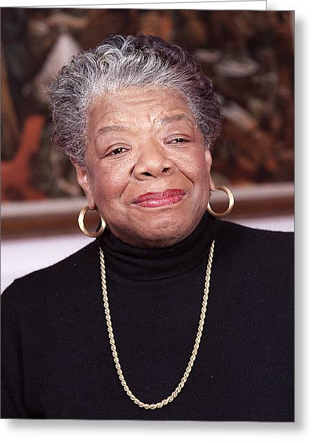 Female Photographs Greeting Cards - Maya Angelou Greeting Card by Robert Ponzoni