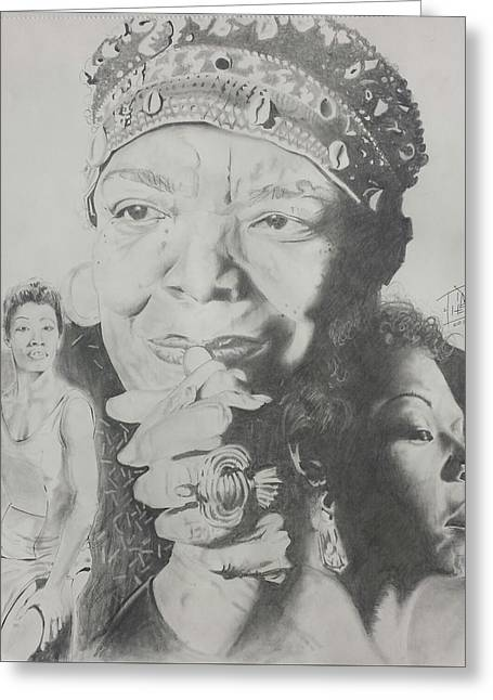 Maya Angelou  Greeting Card by DMo Herr