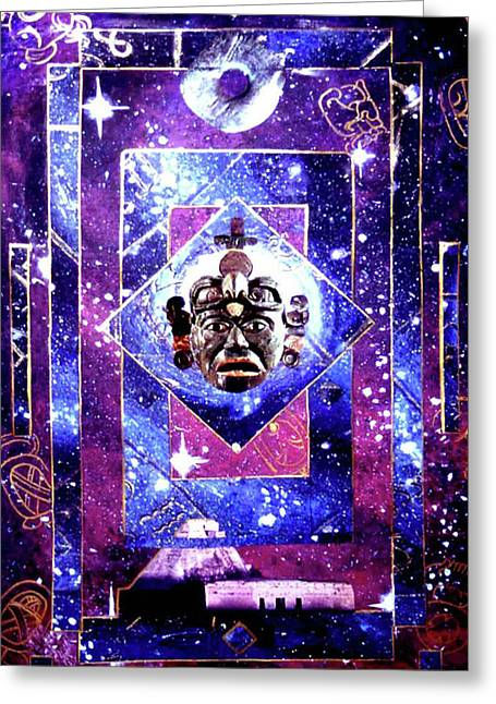 Astronomy Pastels Greeting Cards - Maya Parallel Universe Greeting Card by Tania Williams